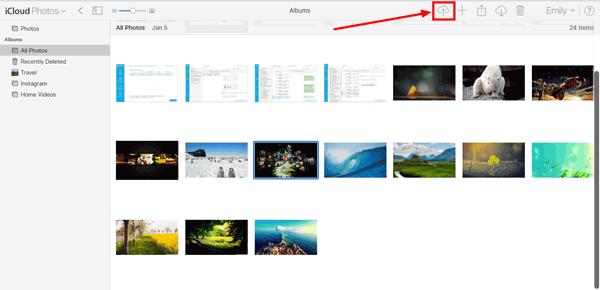 iCloud-Foto hochladen