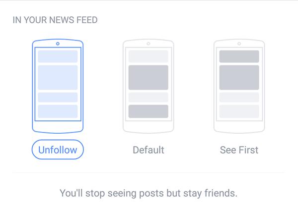 Freunde nicht folgen