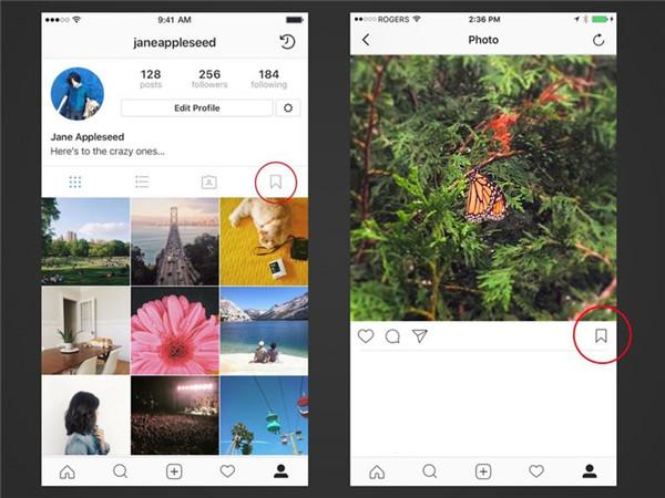 Gefällt-Mir-Fotos speichern Instagram