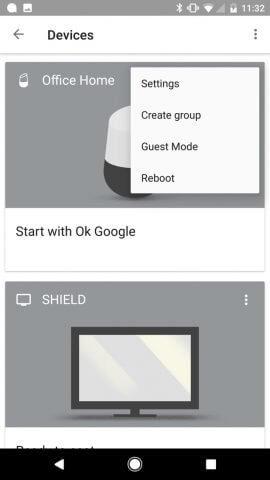 Google Home Einstellungen