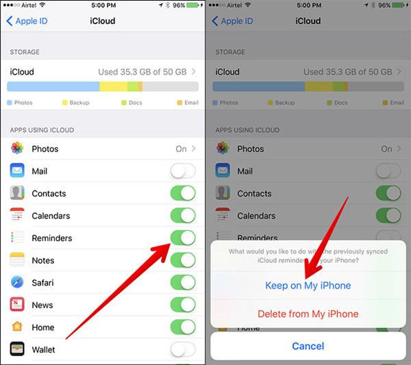 iCloud App deaktivieren