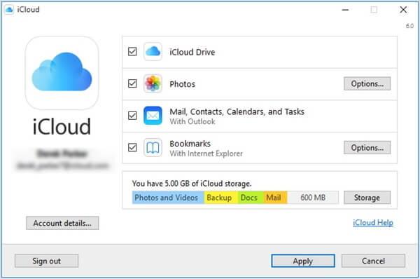 iCloud auf Windows einstellen