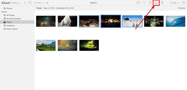iCloud-Foto herunterladen