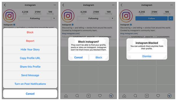 Instagram Blockierte Personen Finden