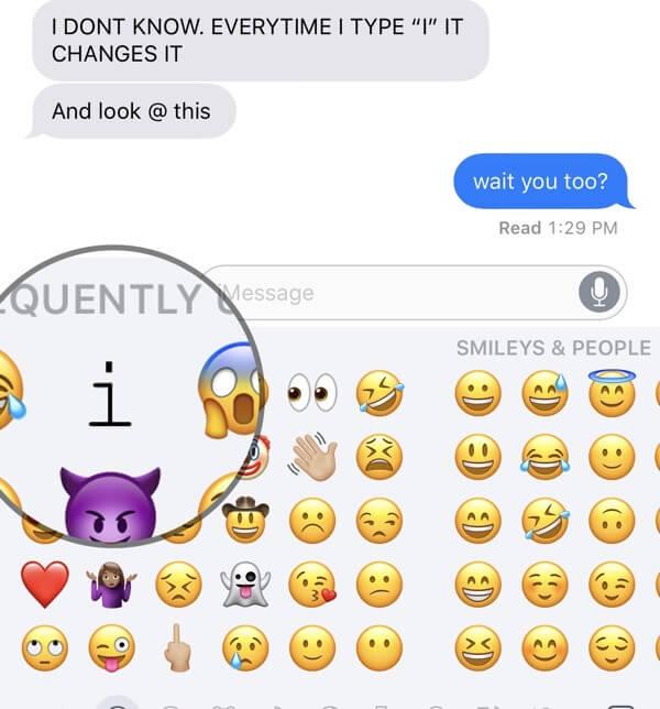 iOS 11 Bug im Emoji