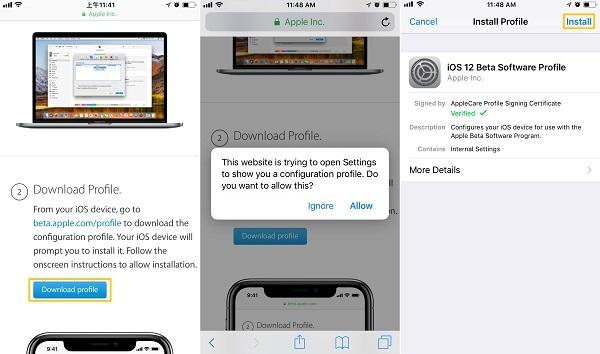 iOS 12-Beta downloaden