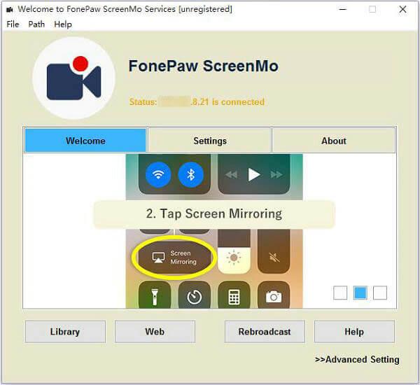 iOS-Bildschirm auf PC aufhenmen Screen Mo