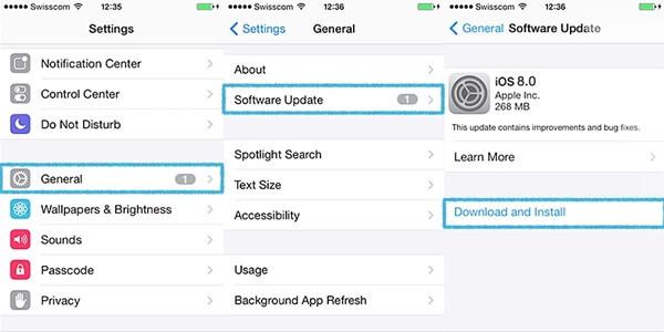 iOS Version aktualisieren