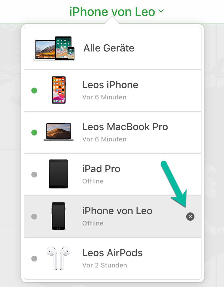 iPhone über iCloud deaktivieren
