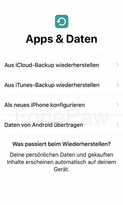 Daten von Android auf iOS übertragen