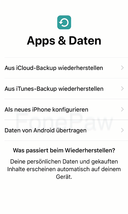 iPhone aus iCloud Backup wiederherstellen