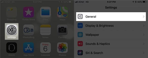 iPhone Einstellugen Allgemein