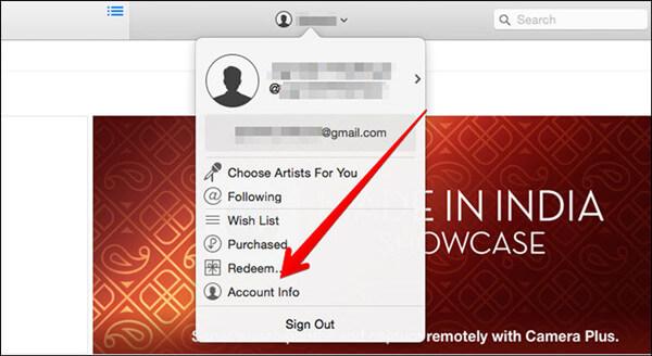 iTunes Apple ID anzeigen