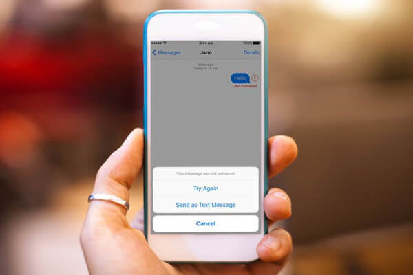 Man kann nicht SMS an iPhone absenden