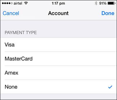 iPhone Apple Zahlungsdaten keine