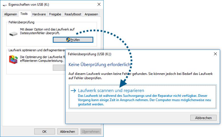 SD Karte scannen und reparieren auf PC