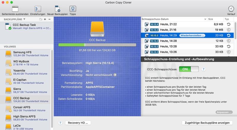 Mac Backup Software Carbon Copy Cloner 5