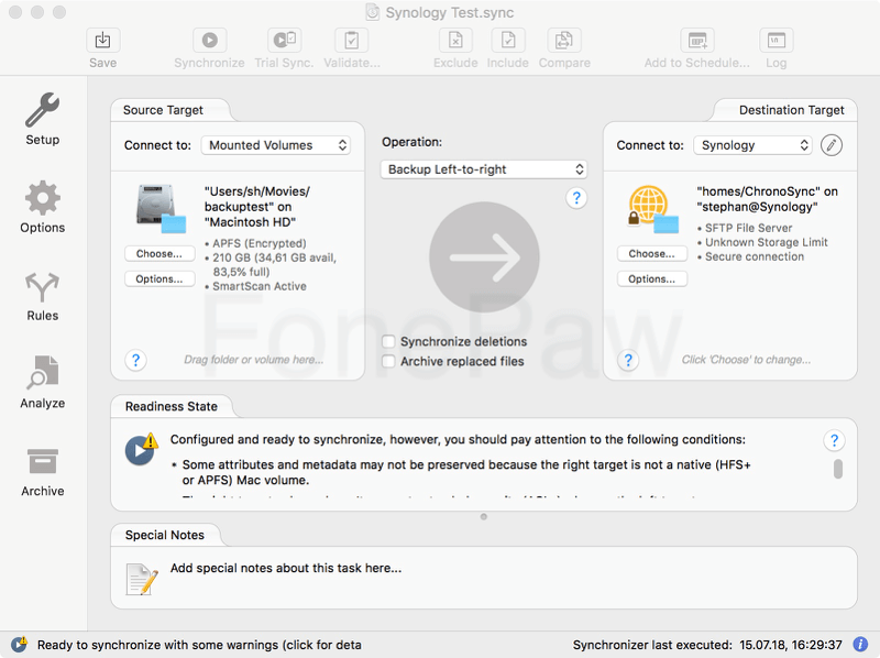 Mac Backup Software Chronosync