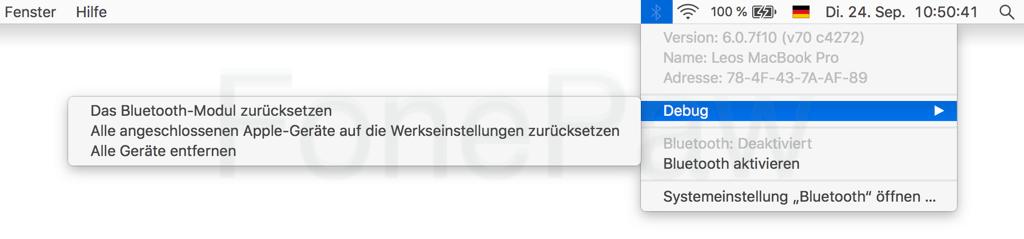 Mac Das Bluetooth-Modul zurücksetzen