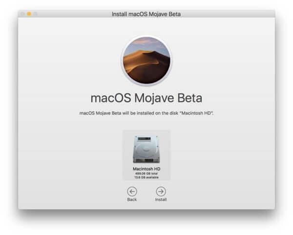 macOS-Mojave-Beta installieren