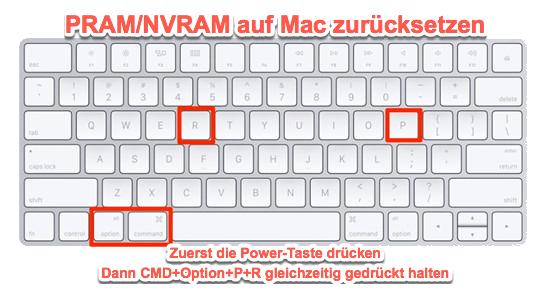Mac NVRAM zurücksetzen