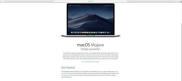 Mac registrieren zu macOS-Mojave