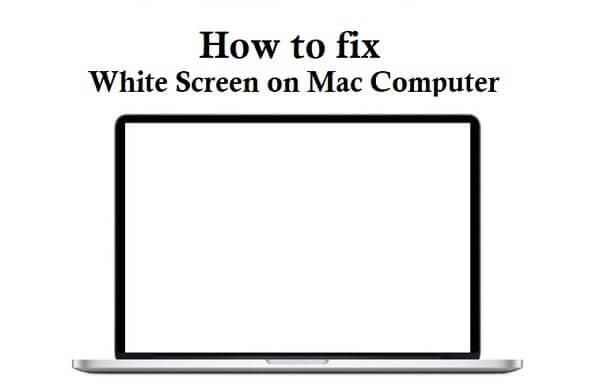 weißer Bildschirm