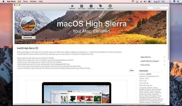 macOS-High-Sierra herunterladen