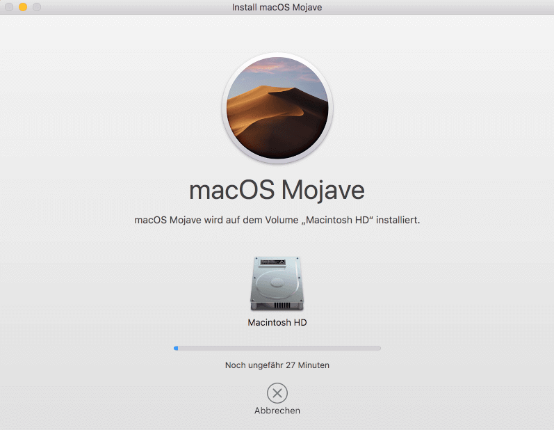 macOS Mojave saubere Installation