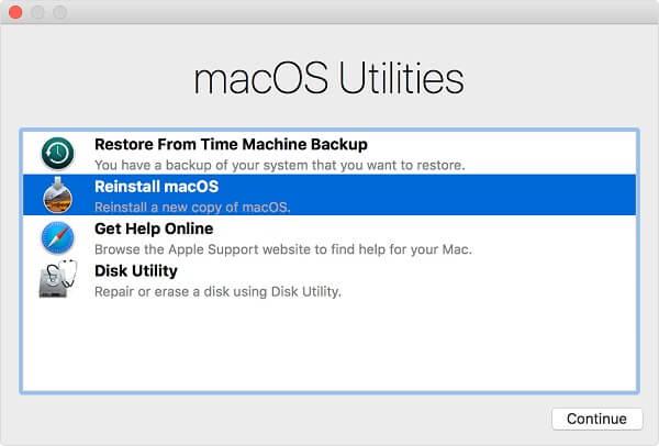 macOS-Rettungsmodus neu installieren