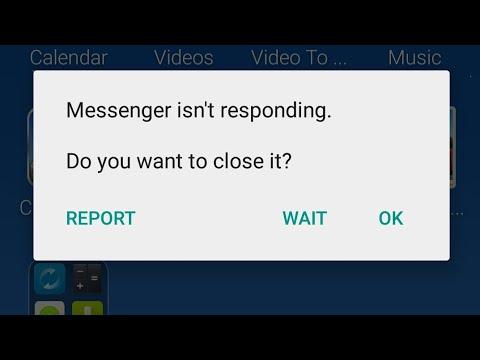 Messenger auf Facebook ist nicht reagierend
