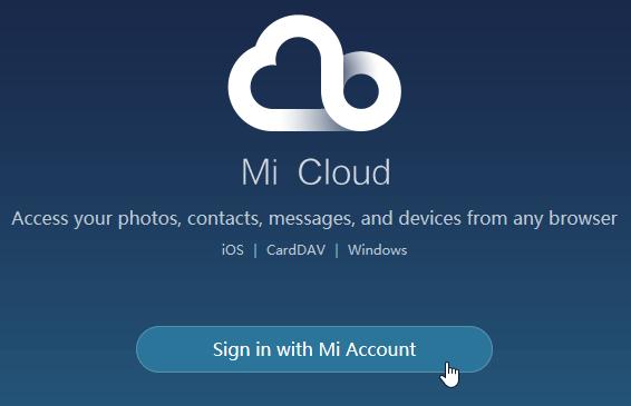 Mi-Cloud-Konto anmelden