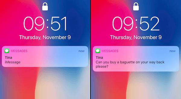 iPhone Mitteilungen auf Sperrbildschirm zeigen