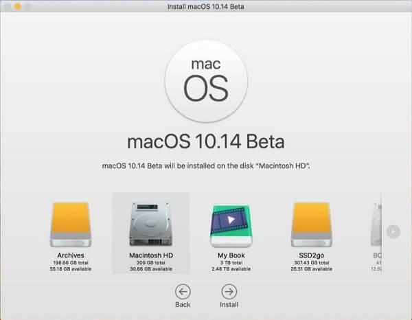 Mojave-Beta installieren