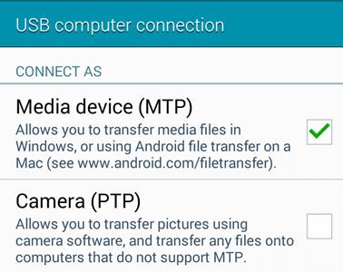 LG MTP-Modus