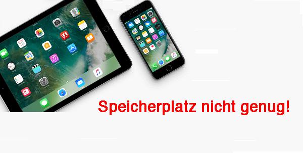 Nicht genug Speicherplatz für iOS-Update