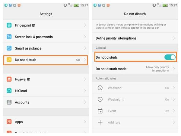 Nicht-Stören-Modus deaktivieren Android