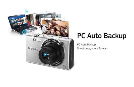 Automatisches Backup auf PC für Samsung Kamera