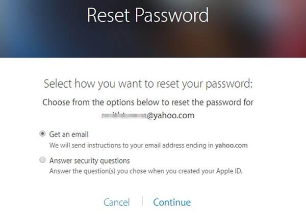 Per Email Apple-ID-Passwort zurücksetzen