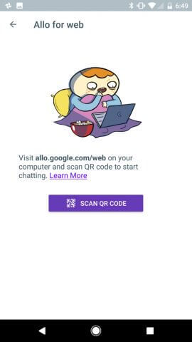 Google Allo QR Scannen