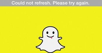 Snapchat kann nicht aktualisieren