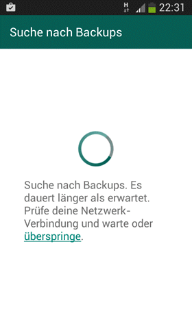Nach WhatsApp-Backups suchen