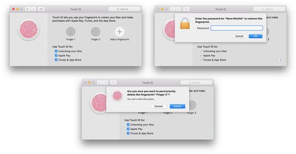 Touch ID-Fingerabdruck löschen und neu ersetzen