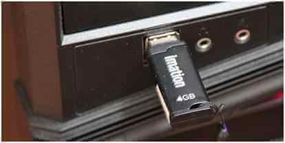 USB einsetzen