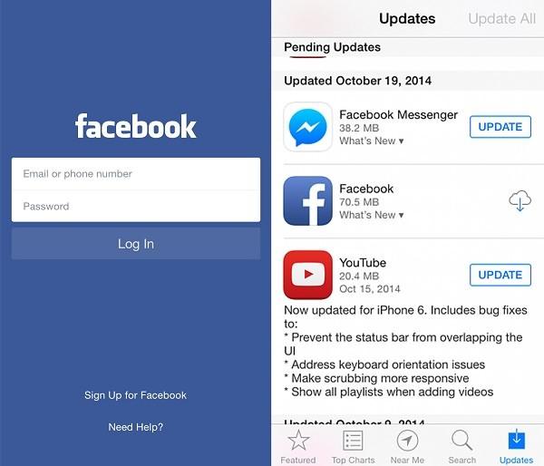 Facebook kann nicht Videos hochladen