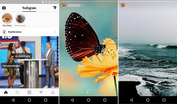 vielfache Fotos auf Instagram-Storys