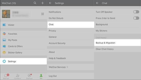 Wechat-Chat-Verlauf Übertragen