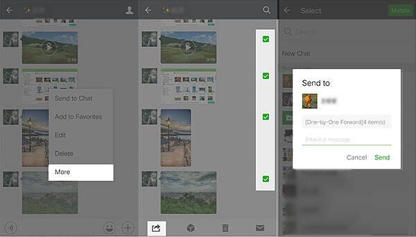 WeChat-Fotos und Videos senden