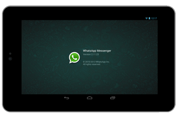 WhatsApp für Tablet