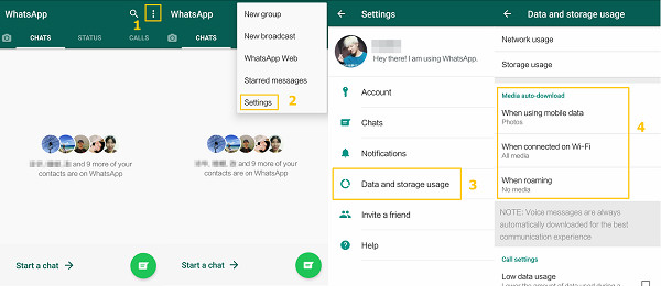 WhatsApp Auto-Download aktivieren